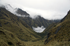 In the way to reach Machu Picchu Lost City Royalty Free Stock Image