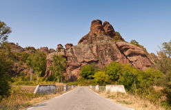 Way to rock. One of the first rocks you see a phenomenon of Belogradchik Rocks Royalty Free Stock Photo