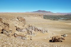 On the way to Salar de Tara, Chile Royalty Free Stock Photo