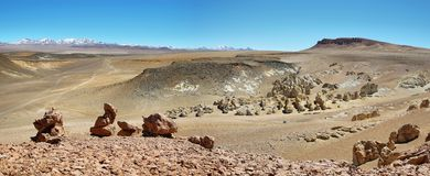 On the way to Salar de Tara, Chile Royalty Free Stock Photos