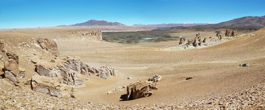 On the way to Salar de Tara, Chile Royalty Free Stock Images