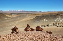 On the way to Salar de Tara, Chile Stock Image