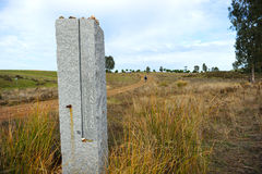 The Way to Santiago, Camino de Santiago, Granite monolith Stock Photography