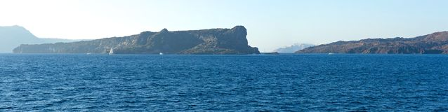 On the way to Santorini. Royalty Free Stock Photography