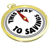 This Way to Savings Compass Sale Clearance Blowout Royalty Free Stock Photos
