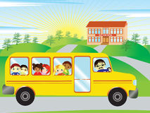On the way to school Stock Images
