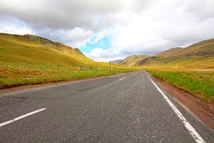 On the way to Scottish Highlands Stock Photo