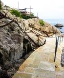 Way to the sea stock photos