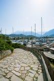 Way to the sea port Stock Photo