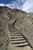 The way to Shanti Stupa in Leh, Ladakh Royalty Free Stock Photography