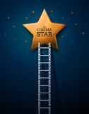 Way to the Stars of Cinema Royalty Free Stock Photos