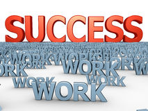 Way to success vector illustration