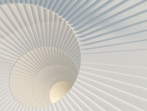 Way to success. Fragment of beautiful white spiral staircase Stock Photos