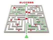 Way to success. Difficult way to success. Concept Stock Photos