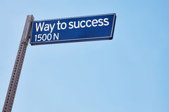 Way to success as road sign Stock Photography