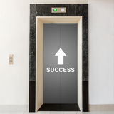 Way to success, business conceptual. Elevator with way to success, business conceptual Stock Photo