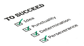 Way to success checklist Stock Photos
