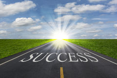 The way to success concept. Light at the destination Royalty Free Stock Photo
