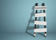 Way to success concept, pencil Ladder with blank stairs, copy sp Royalty Free Stock Images