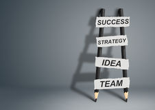 Way to success concept, pencil Ladder with copy space Stock Image