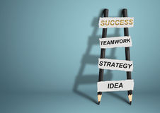 Way to success concept, pencil Ladder with copy space Royalty Free Stock Photos