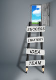 Way to success creative concept, pencil Ladder with copy space Stock Photography