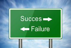 The way to success or failure Royalty Free Stock Photo