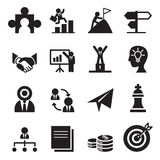 The way to success icons set Royalty Free Stock Photos