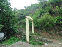 Way to sukhai village. Way to village in uttrakhand Stock Photo