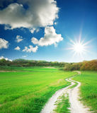 Way to sun Royalty Free Stock Images
