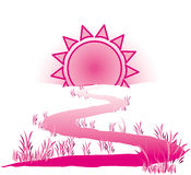 The way to the sun. Illustration of the way to the sun royalty free illustration
