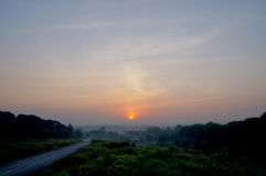 The way to the sunrise. In indonesia Royalty Free Stock Image