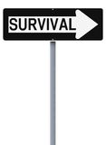 This Way To Survival Royalty Free Stock Image