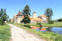 Way to Svihov castle Royalty Free Stock Images
