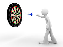 Way to the target!. Dart on its way to a target Royalty Free Stock Photography