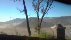 On a way to the Tenger caldera. View from a front seat on the Bromo volcano