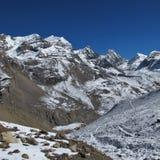 On the way to Thorung La Pass, Nepal Stock Photography