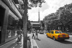 Way to Tokyo Tower Royalty Free Stock Photo