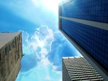 Way to top. Business centre Royalty Free Stock Photography