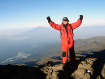 On the way to the top. Of Kilimanjaro Royalty Free Stock Photos