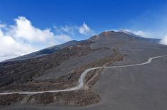Mount Etna, Sicily. The volcanic landscape, Mount Etna, Sicily royalty free stock images