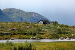 On the way to Trolltunga, Hordaland county, Norway.  royalty free stock images