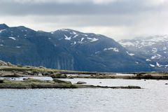 On the way to Trolltunga, Hordaland county, Norway.  royalty free stock photo