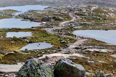 On the way to Trolltunga, Hordaland county, Norway.  royalty free stock photos
