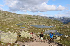 Way to the Trolltunga Royalty Free Stock Images