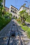 The Way to Upper Bergamo. The funicular road to upper Bergamo Stock Photo
