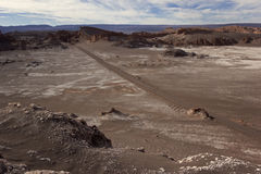 On the way to Valle de la Luna. On the way to Valley of the Moon near San Pedro de Atacama in Chile stock image