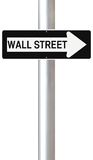 This Way to Wall Street Royalty Free Stock Photos