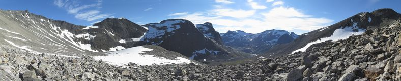 On the way from Trollstigen to Troll wall Royalty Free Stock Photography