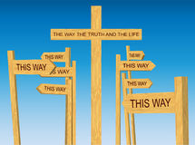 Way, Truth and Life Sign Royalty Free Stock Image
